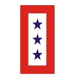 Three Blue Stars Service Ribbon Decal