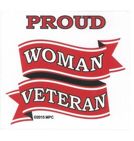 Proud Woman Veteran  Decal