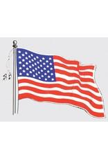 Wavy American Flag Decal