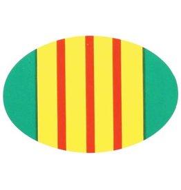 Vietnam Veteran Ribbon Oval Decal