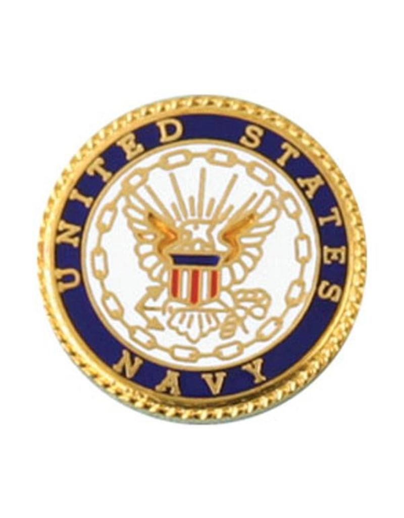 United States Navy with Navy Crest Lapel Pin