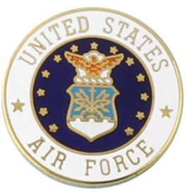 United States Air Force with Air Force Crest Lapel Pin