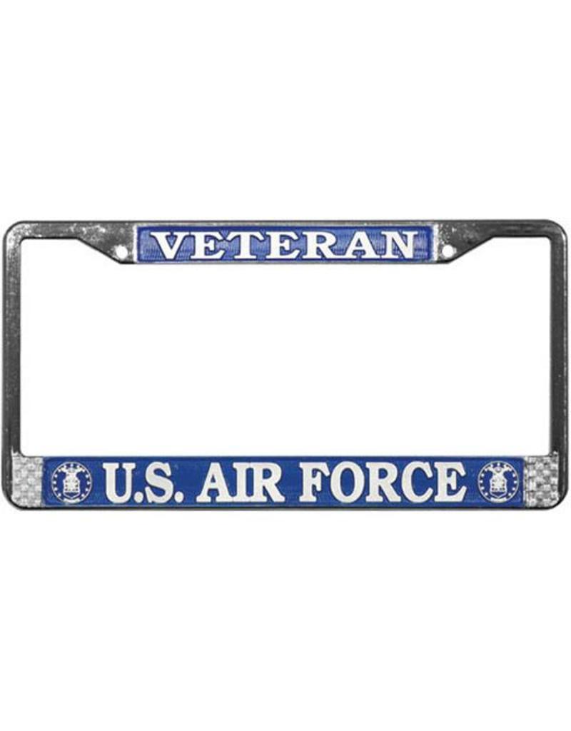 Veteran U.S. Air Force Chrome Auto License Plate Frame