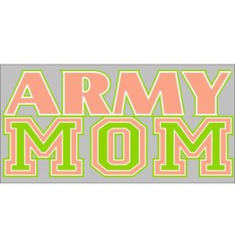 Army Mom (Peach & Green) Decal