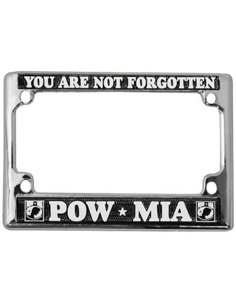 POW * MIA You Are Not Forgotten in White on Black Chrome Motorcycle ...