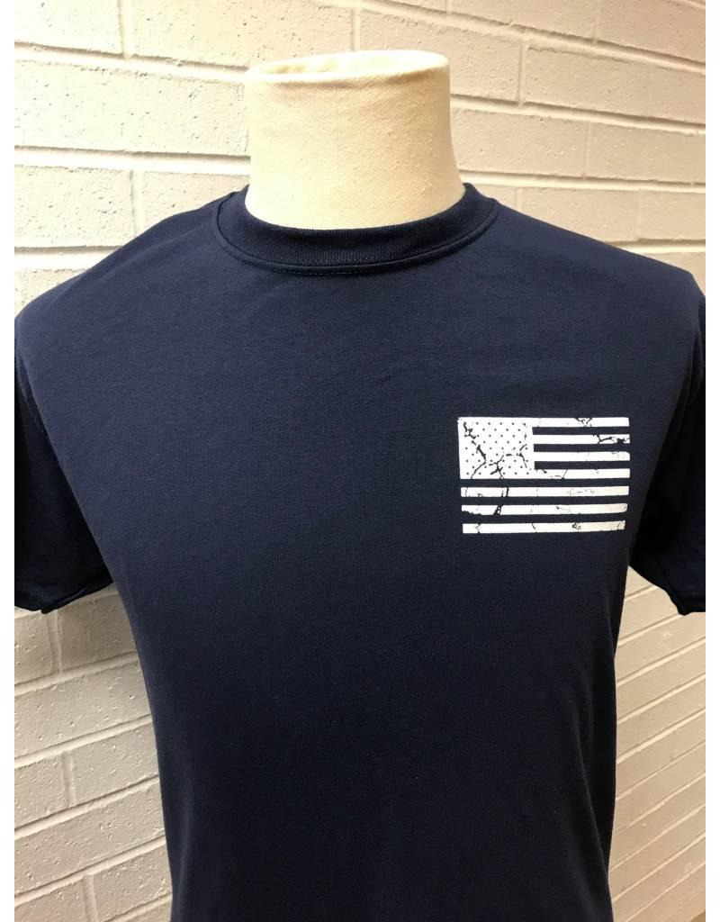 Distressed Flag Double Sided T-shirt