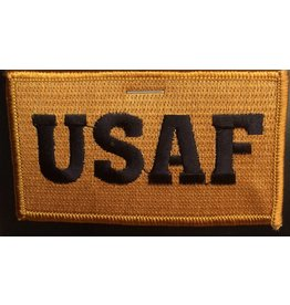 Air Force w/Hook Back Hat Patch