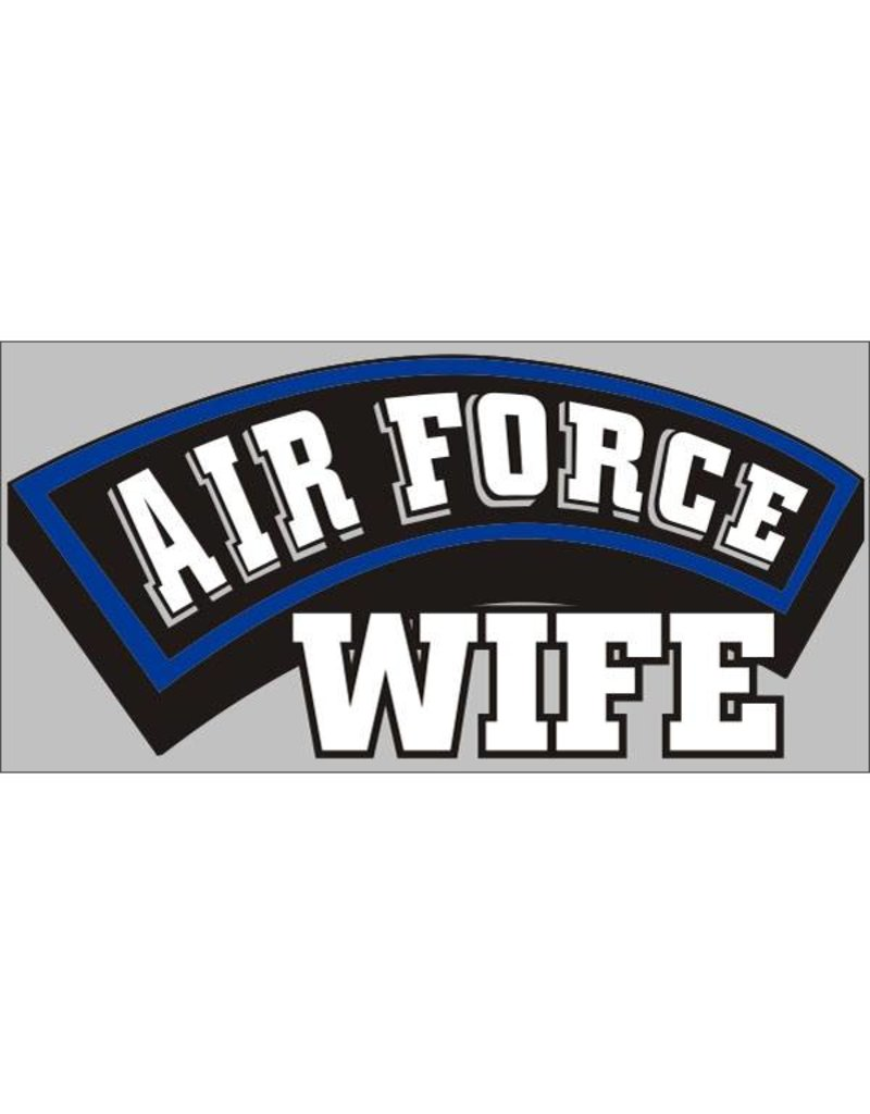 Airforce Wife Decal