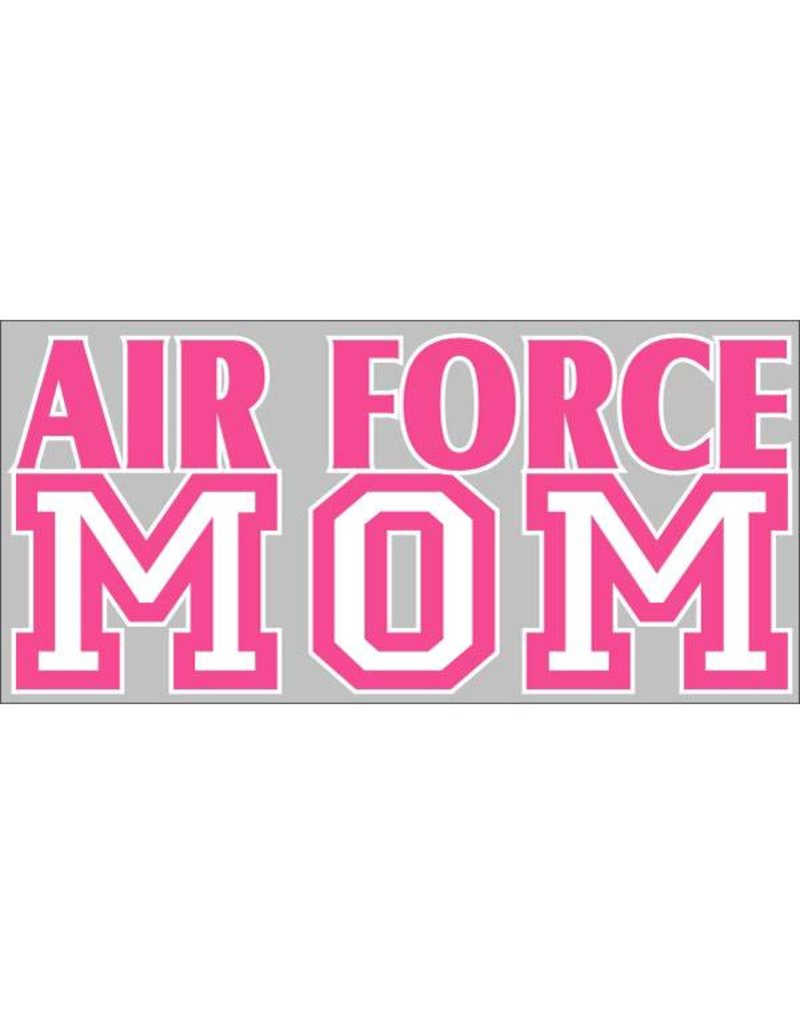 Airforce Mom (Pink & White) Decal