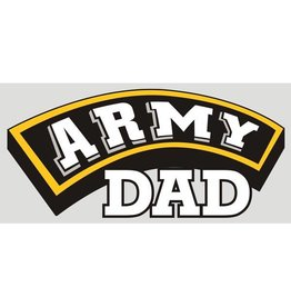 Army Dad (Gold, White & Black) Decal