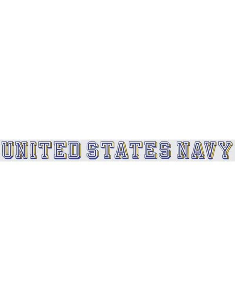 Navy  Window Strip Decal