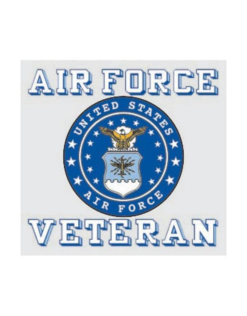 Air Force Veteran with Crest Decal