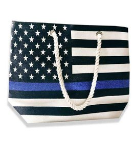 Thin Blue Line Beach Bag