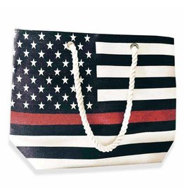 Thin Red Line Beach Bag