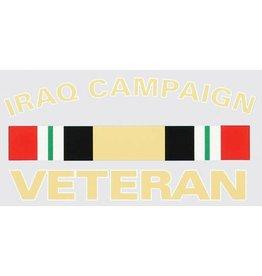 Iraq Campaign Ribbon Veteran Decal
