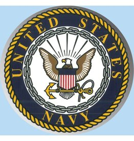 Navy Crest Large Round Prism Decal