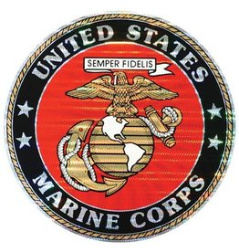 Marine Corps Crest Large Round Prism Decal
