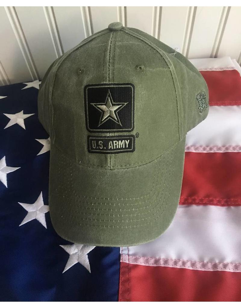 Army w/ One Star Logo Baseball Cap in OD Green