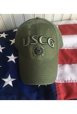Coast Guard Baseball Cap in OD Green