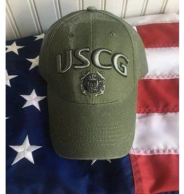 Coast Guard Baseball Cap in OD Green