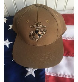 Marine Eagle, Globe & Anchor Baseball Cap in Coyote Brown