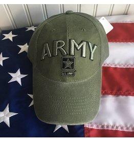 Army w/ Star Logo Baseball Cap in OD Green