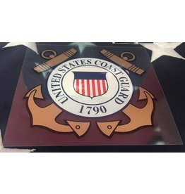 Coast Guard SM Gold Decal