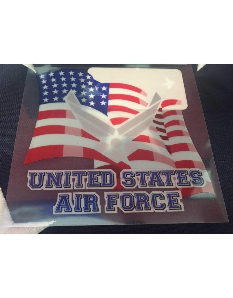 Air Force Logo w/Flag Decal