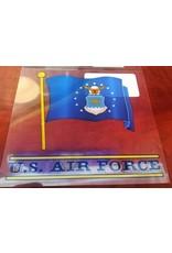 Air Force Waving Flag Decal
