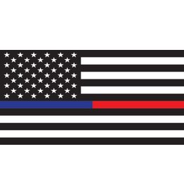 American Flag Thin Blue & Thin Red Line