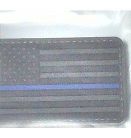 Black U.S. Flag w/Blue Stripe Patch