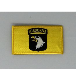 Yellow 101st Airborne w/Hook Back Hat Patch