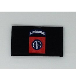 Black 82nd Airborne w/Hook Back Hat Patch
