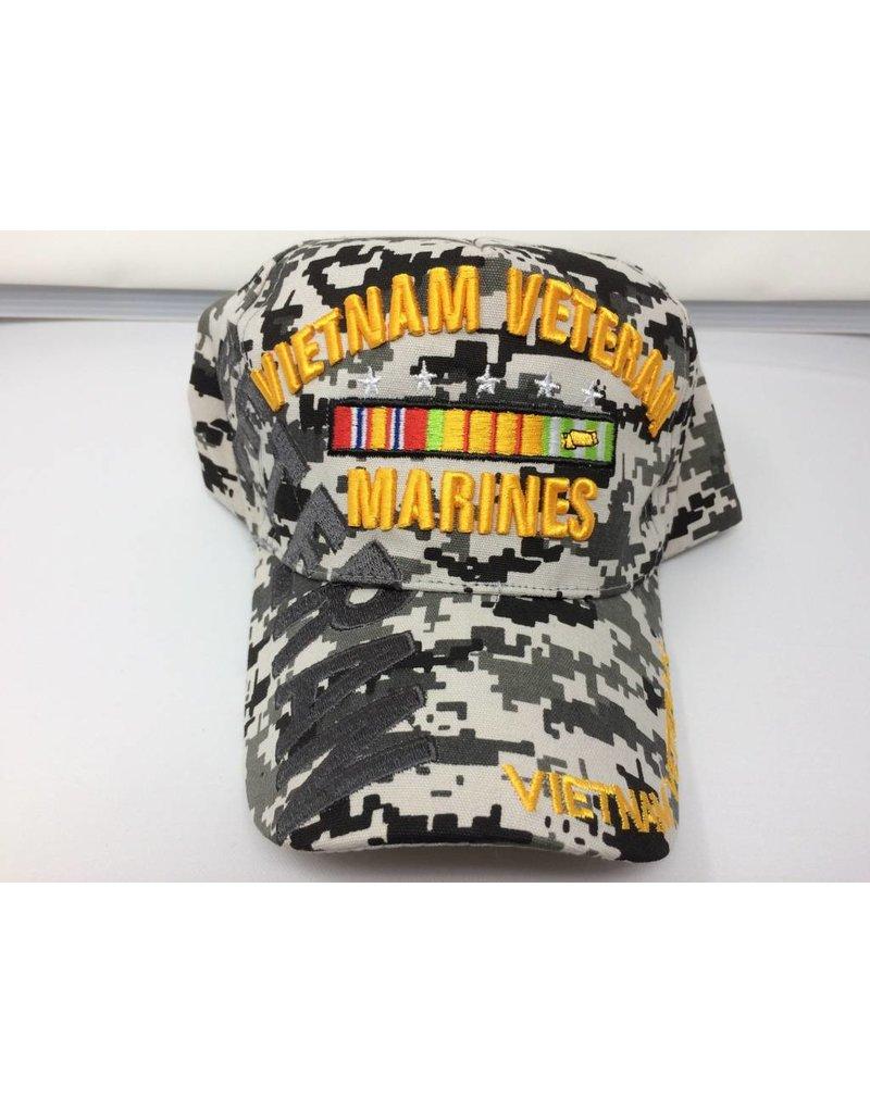 Marine Corps Vietnam (Digital Grey) Baseball Cap(VHV)