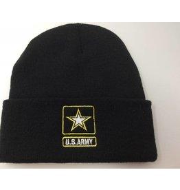 Army Watch Cap Black with Star logo