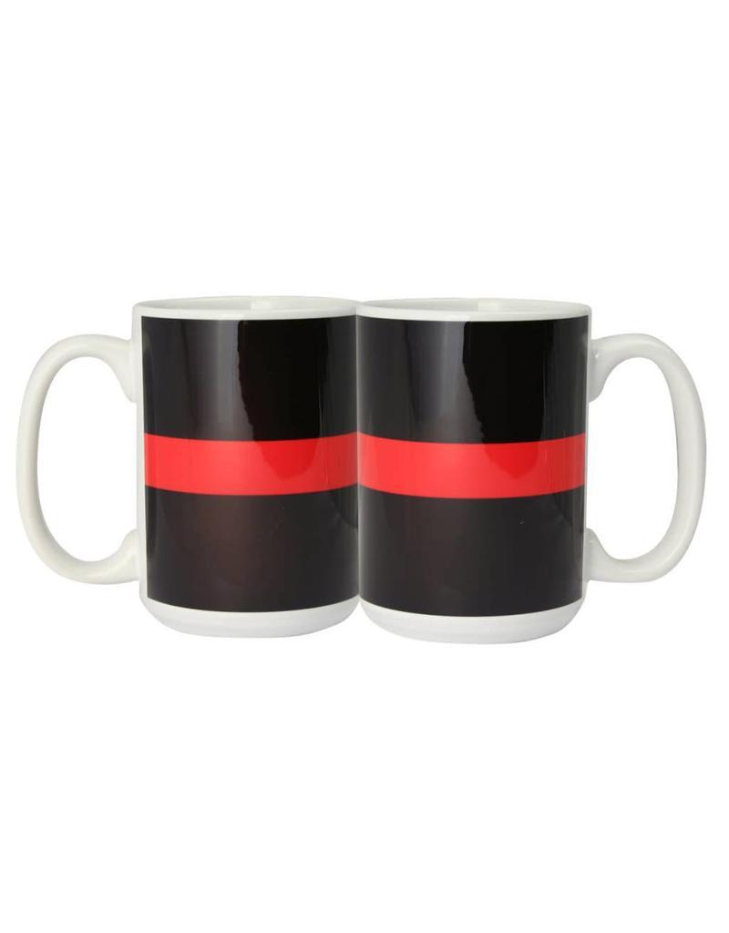 Thin Red Line Ceramic Mug