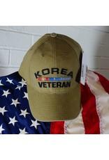 Korea Veteran w/ Embroidered Ribbons Baseball Cap