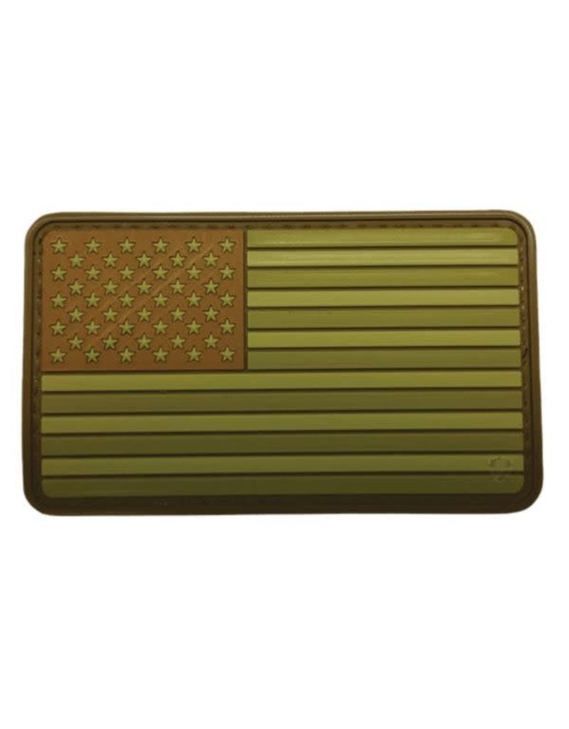 "U.S. Flag OD Green 3.25x2"" PVC Hook & Loop Patch"