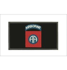 Black 82nd Airborne w/Hook Back Hat Patch