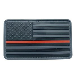 Thin Red Line Hook and Loop Patch