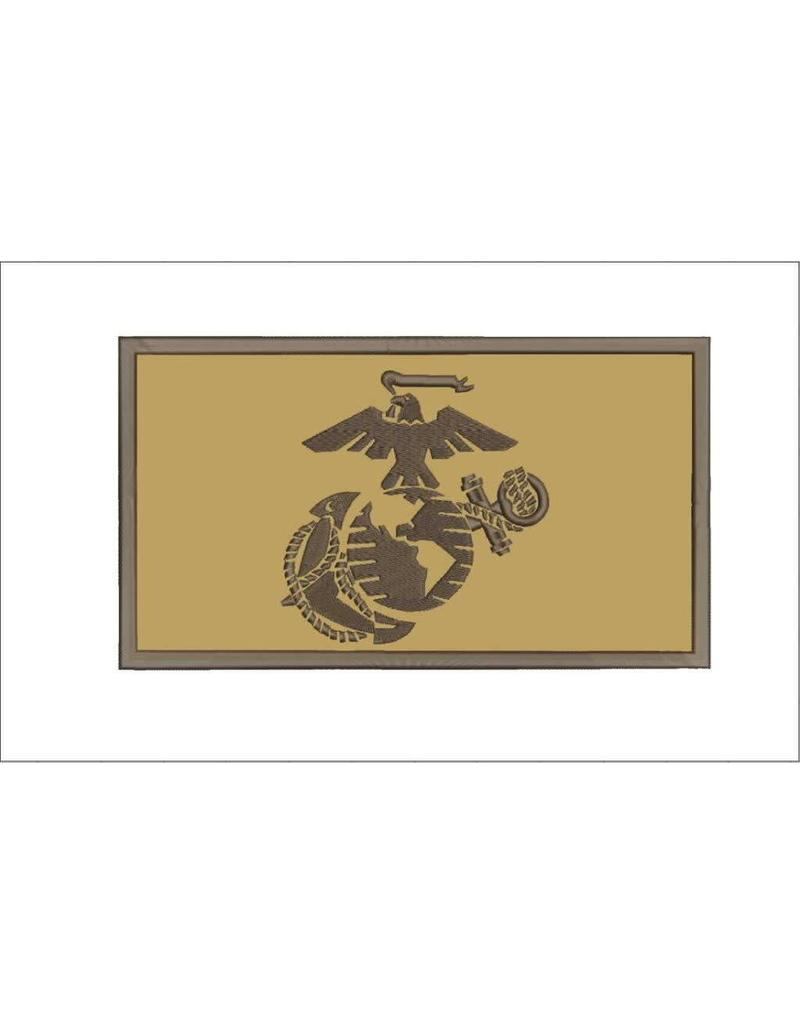 Desert Marine Corps w/Hook Back Hat Patch