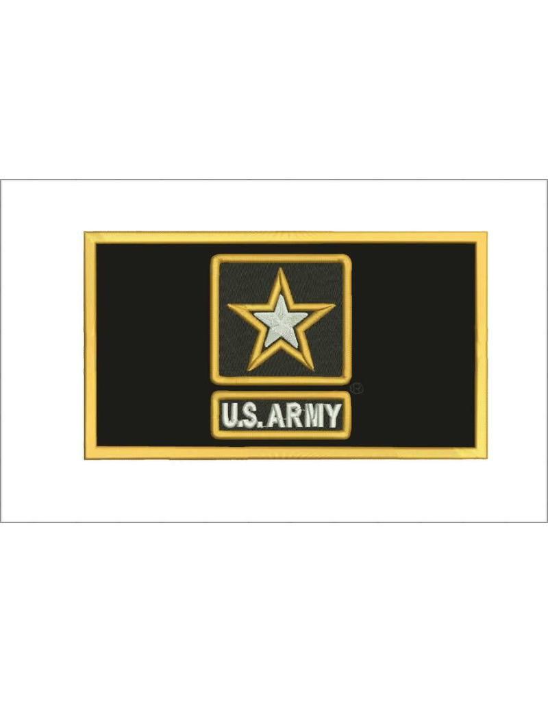 Black Army w/Star w/Hook Back Hat Patch