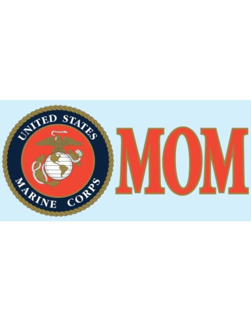 "Marine Mom w/EGA 3x6.25"" Decal"