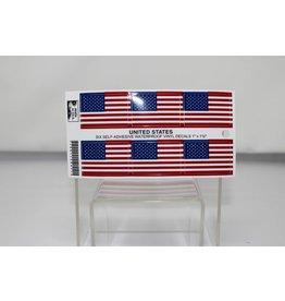 "USA Flag Six Decals 1""x1 1/2"""