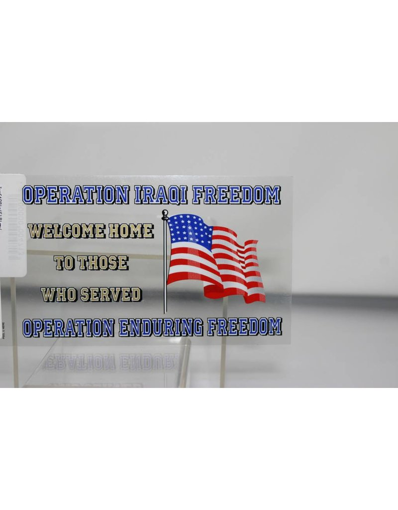 Operation Iraqi Freedom/Operation Enduring Freedom Welcome Home Decal