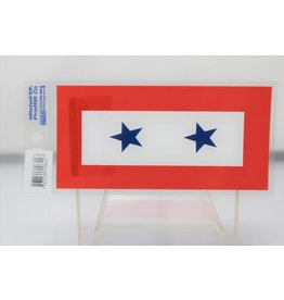 Two Blue Stars Decal