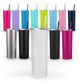 20 oz. METAL TUMBLER W/ STRAW