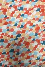 Fabric Finders FF WHITE/CORAL/TEAL MINI FISH