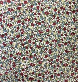 Fabric Finders FF RED/BLUE/CREAM MINI FLORAL