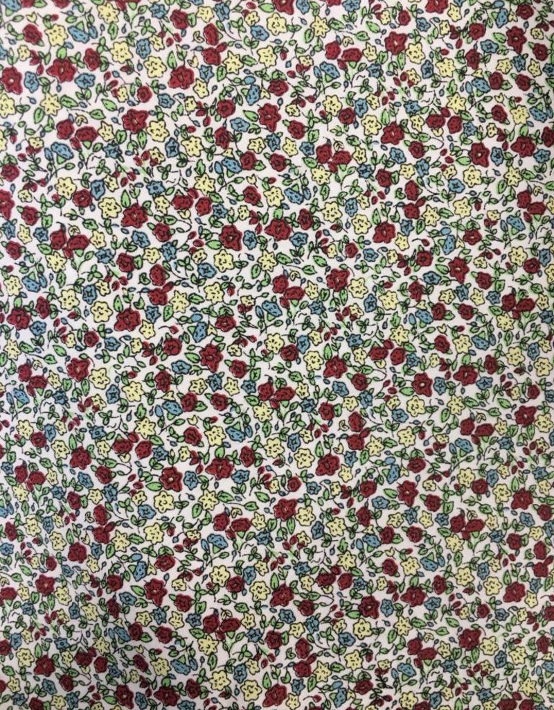 Fabric Finders FF RED/BLUE/CREAM MINI FLORAL